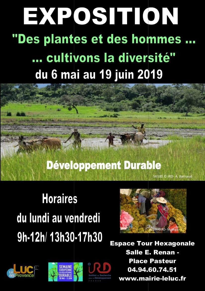 Du 6 mai au 19 juin, Exposition «Des plantes et des hommes… cultivons la diversité»