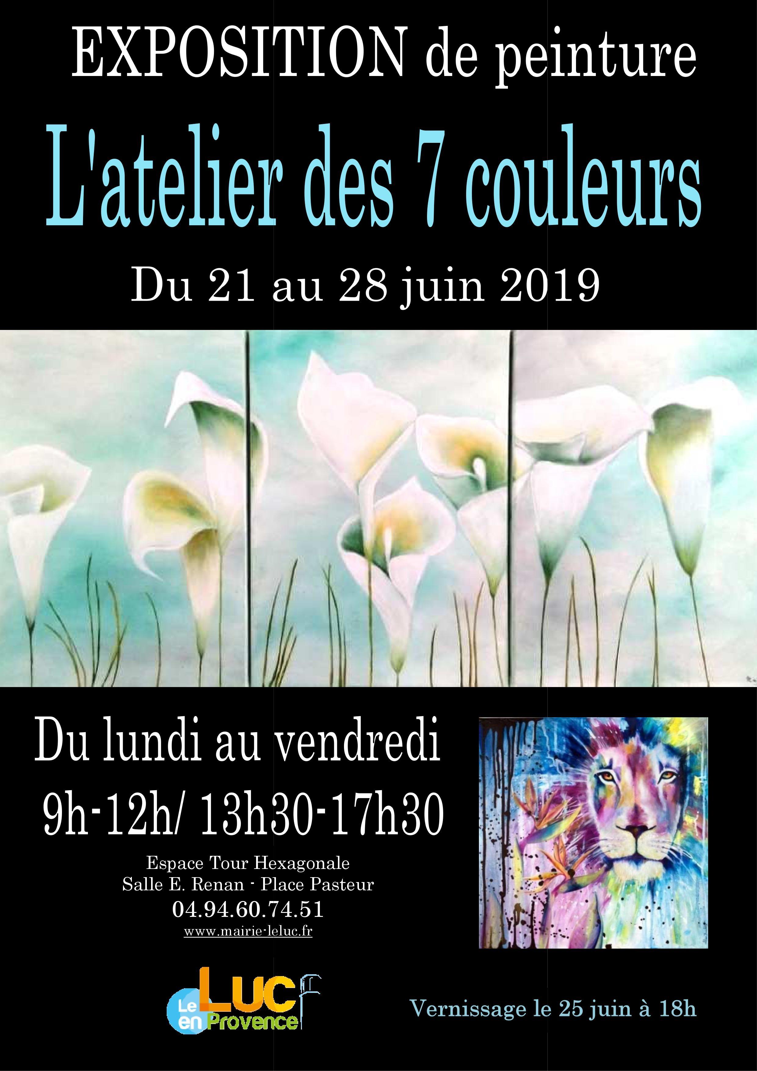Du 21 au 28 juin, Exposition de peinture
