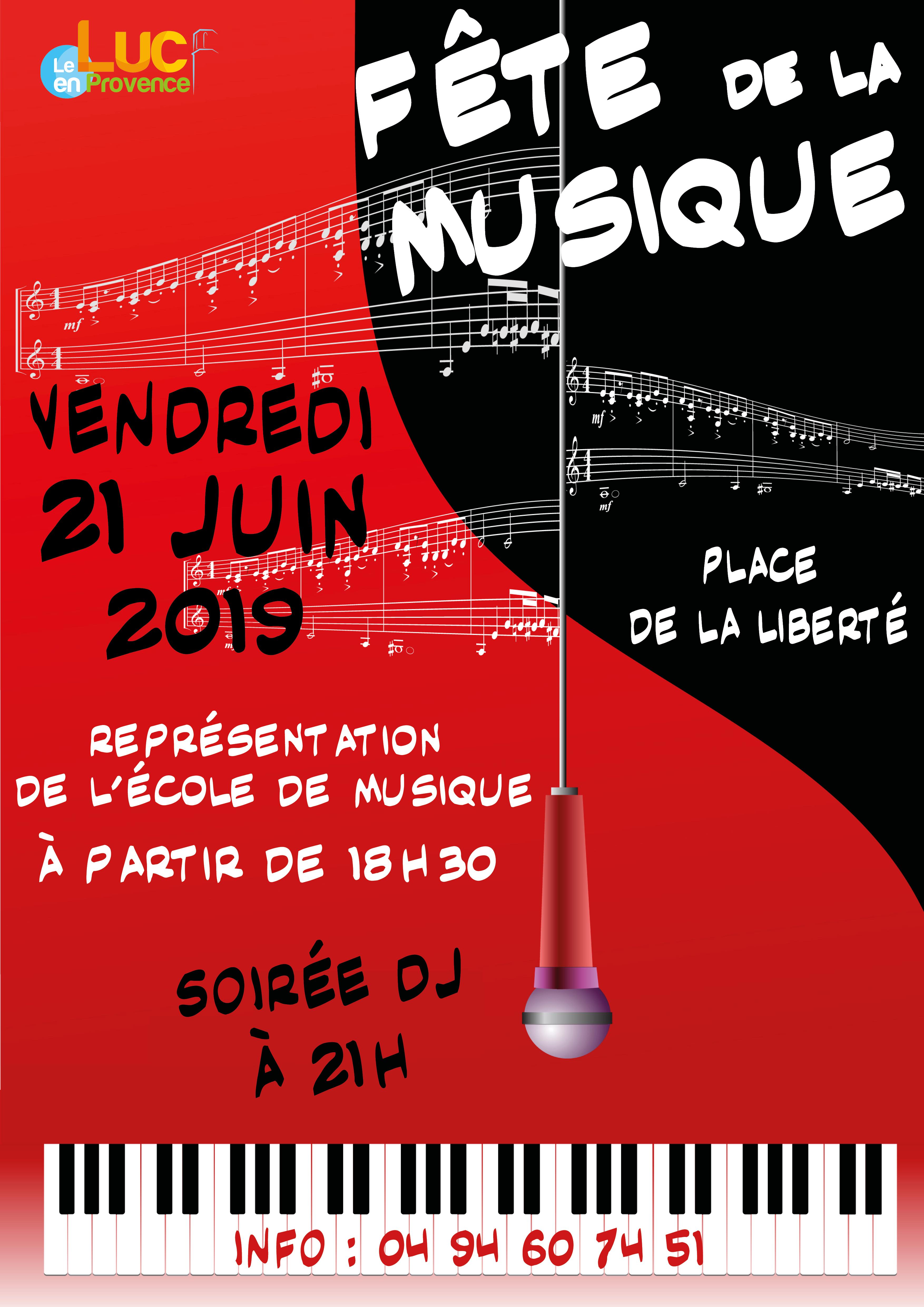 Vendredi 21 juin, Fête de la musique