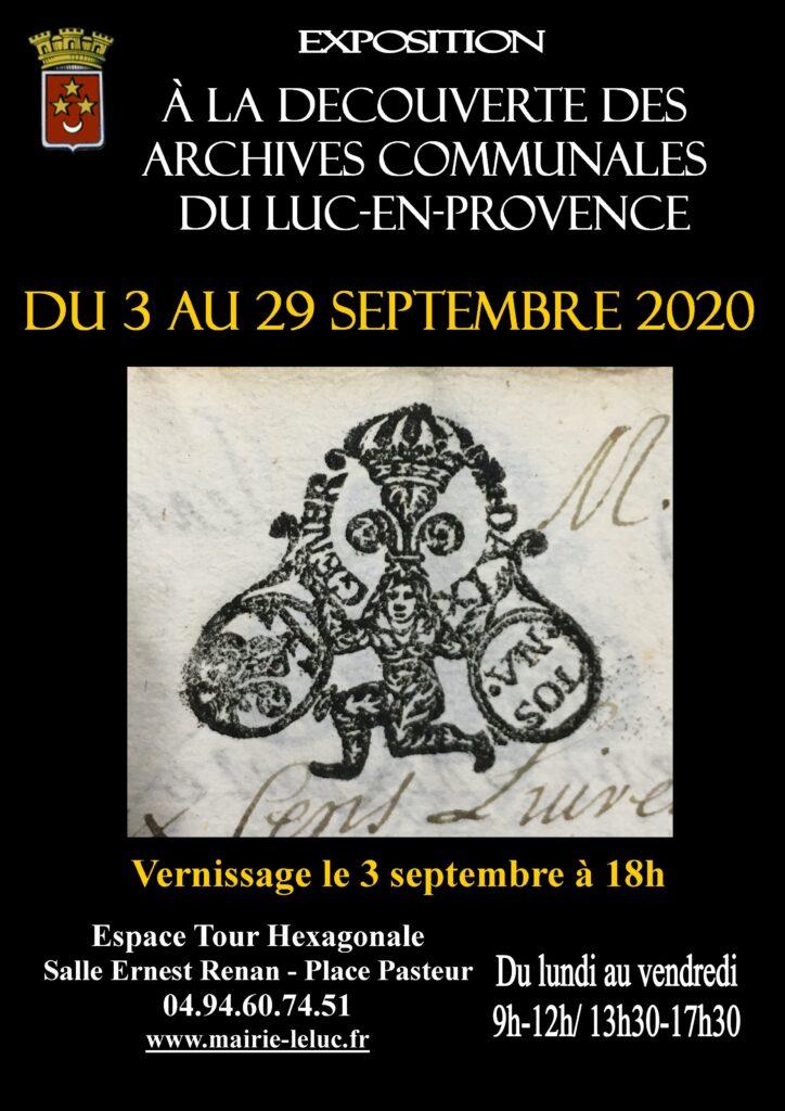 Jusqu'au 29 septembre, Exposition sur les archivesà l'espace tour hexagonale