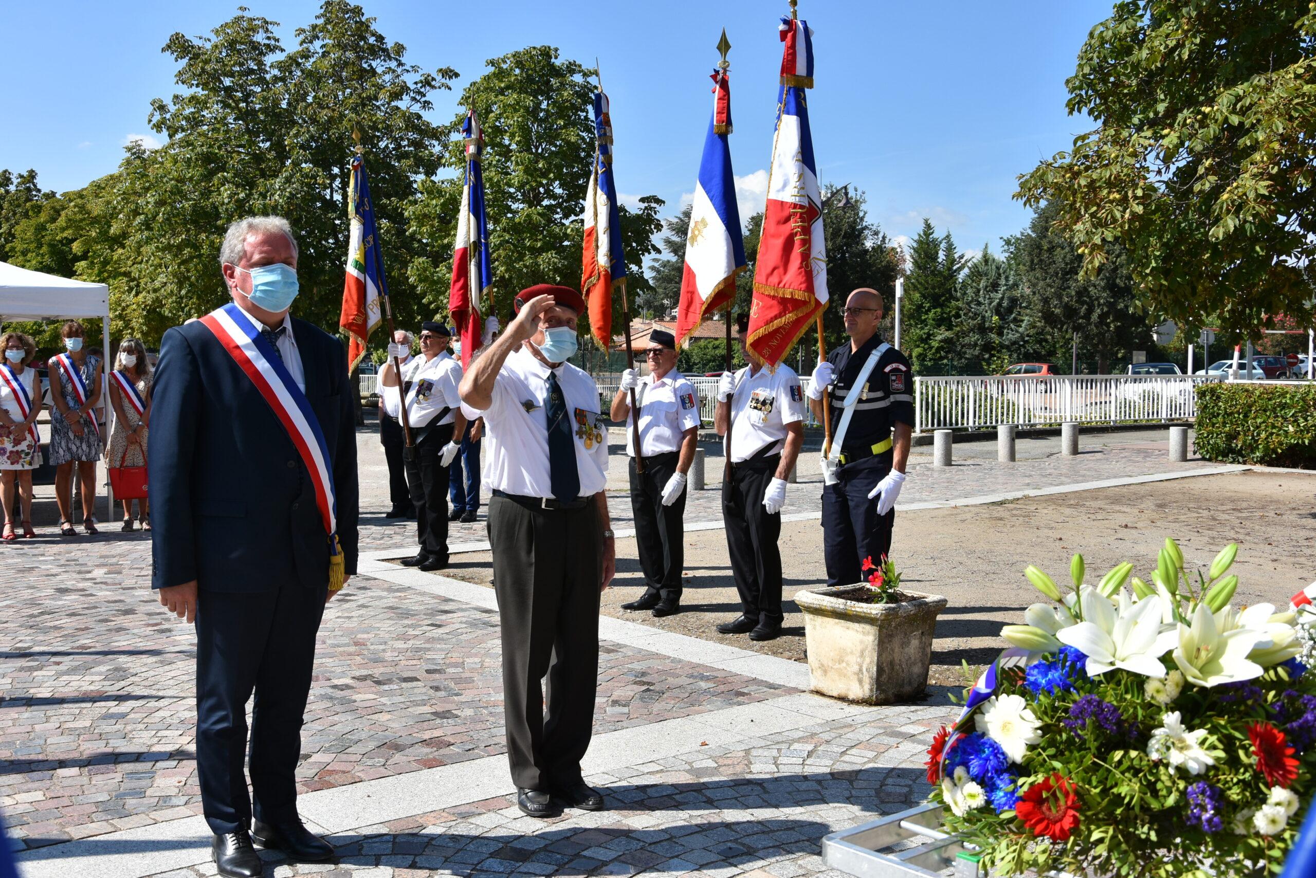 Cérémonie du 17 août – Discours de Dominique Lain, Maire du Luc-en-Provence – Conseiller Départemental du Var