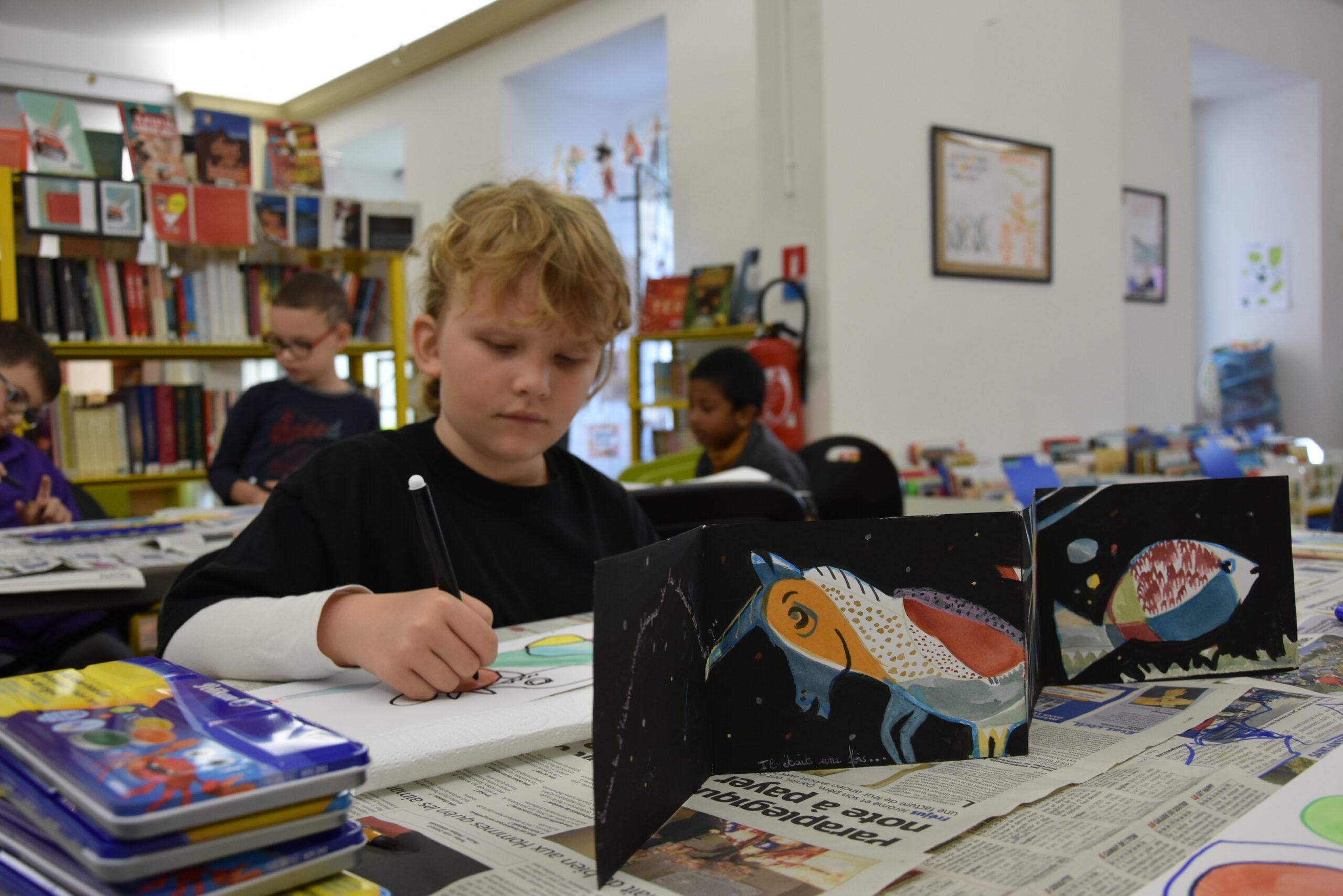 Animation arts plastiques à la bibliothèque municipale (14 octobre)