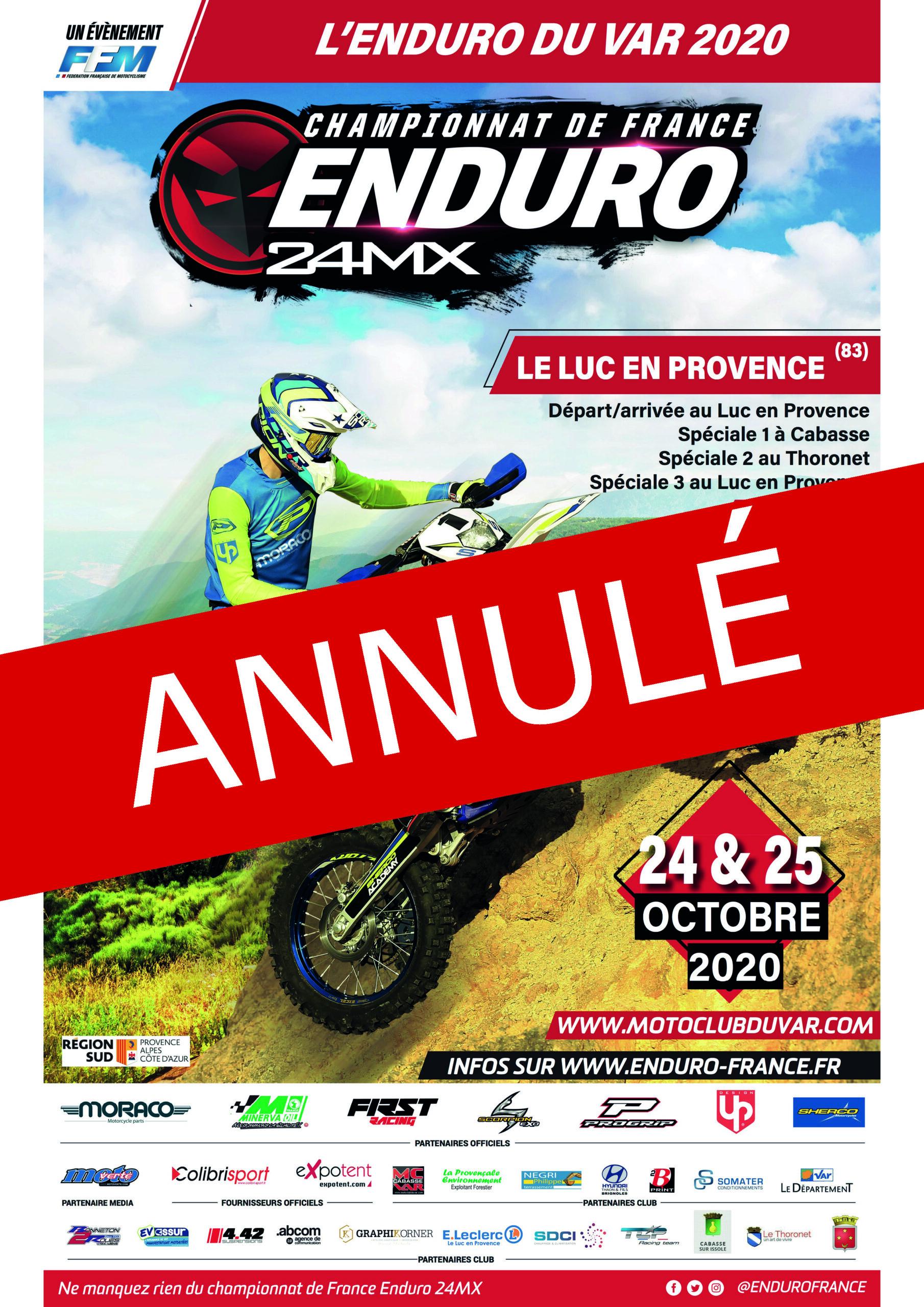 Samedi 24 et dimanche 25 octobre, Championnat de France d'enduro