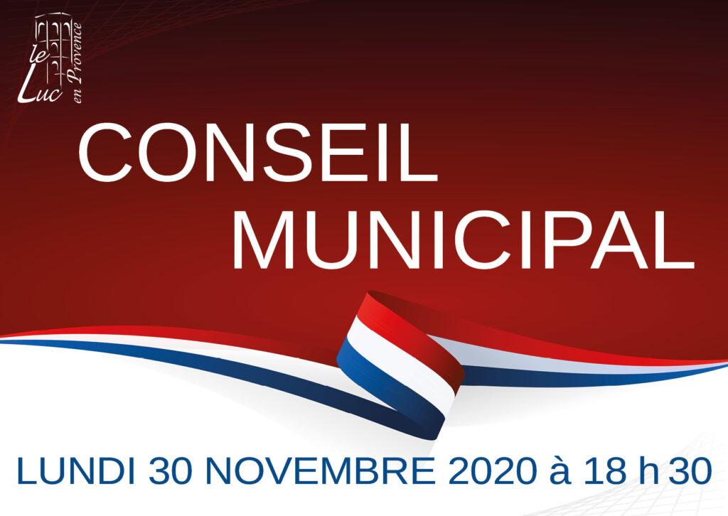 Conseil municipal : 30 novembre 2020