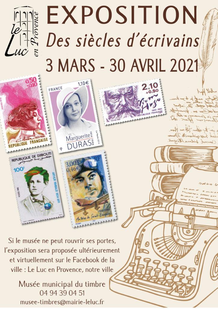 """Du 3 mars au 30 avril – Exposition """"Des siècles d'écrivains"""""""