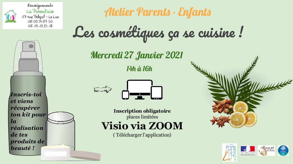 Mercredi 27 janvier, Atelier parents enfants
