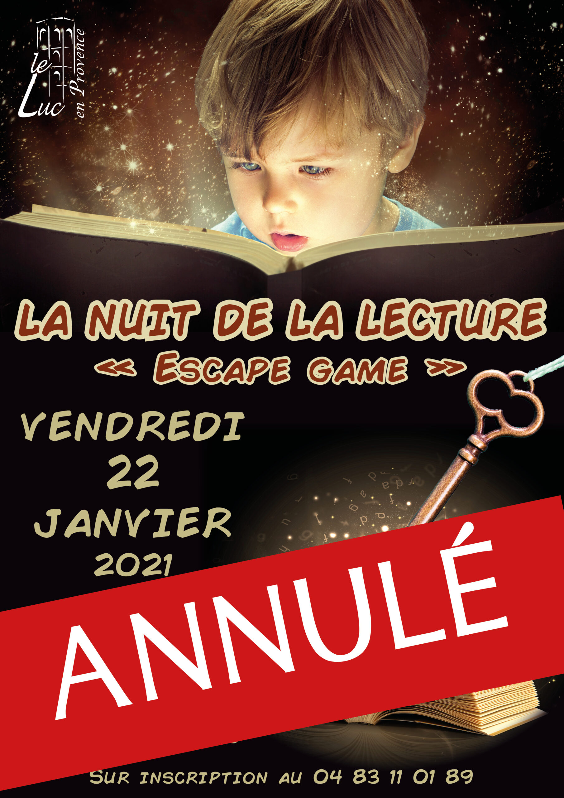 Vendredi 22 janvier, Nuit de la lecture : escape game