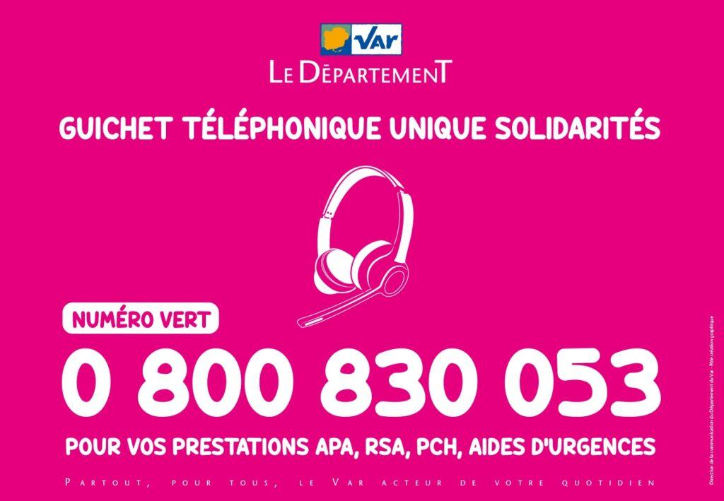 Le « Guichet téléphonique unique Solidarités »