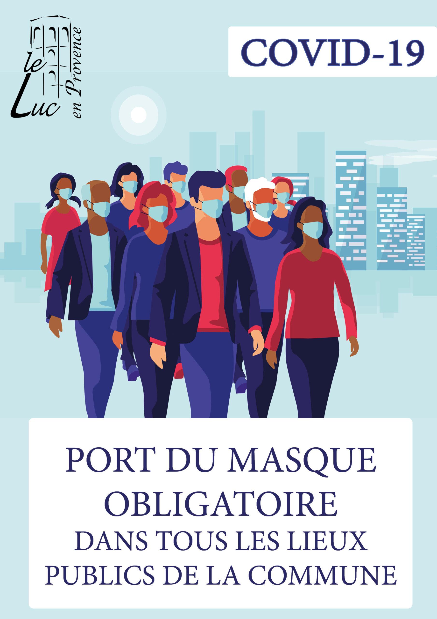 Port du masque obligatoire sur la commune
