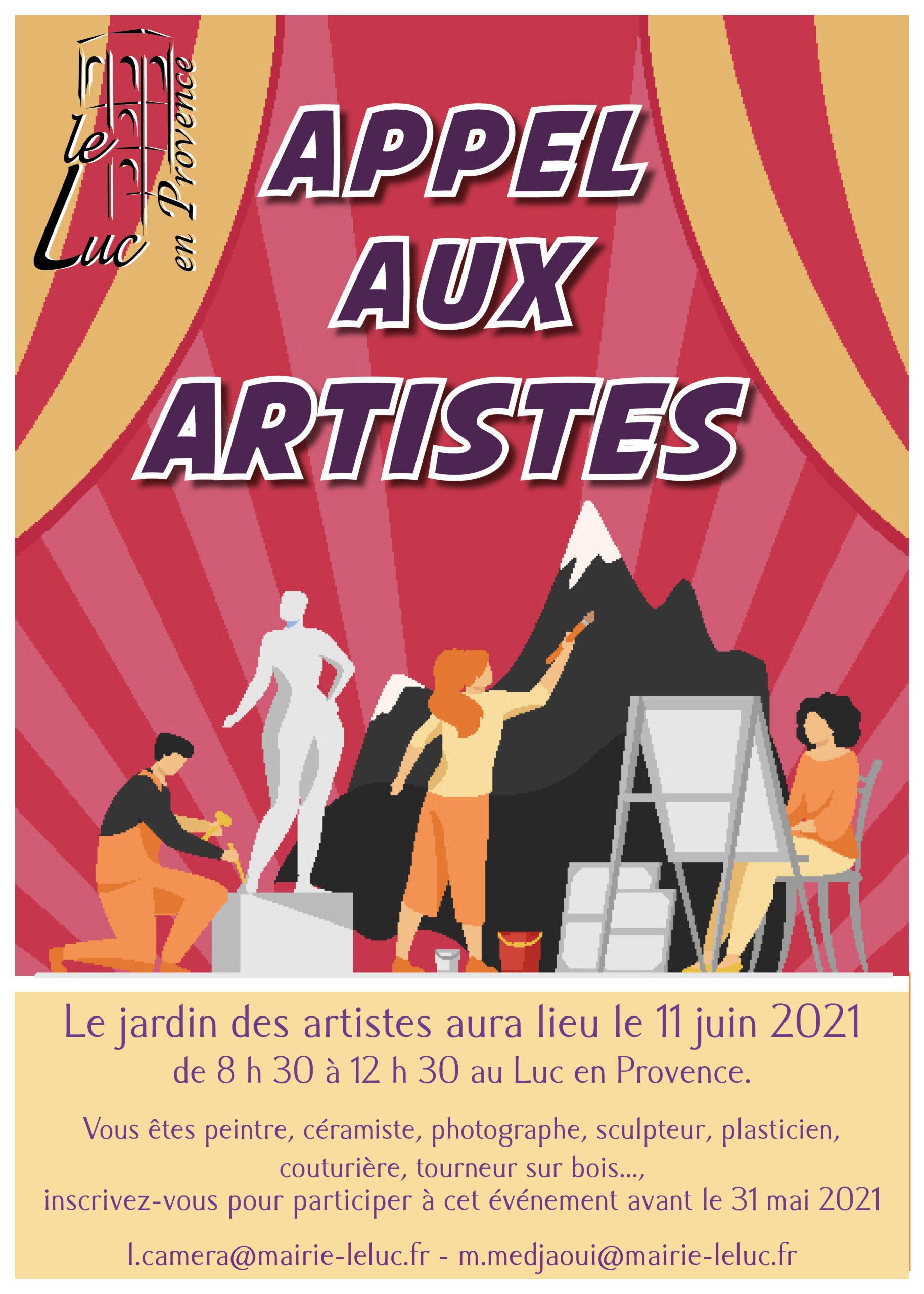 Jardin des artistes – Appel à candidatures