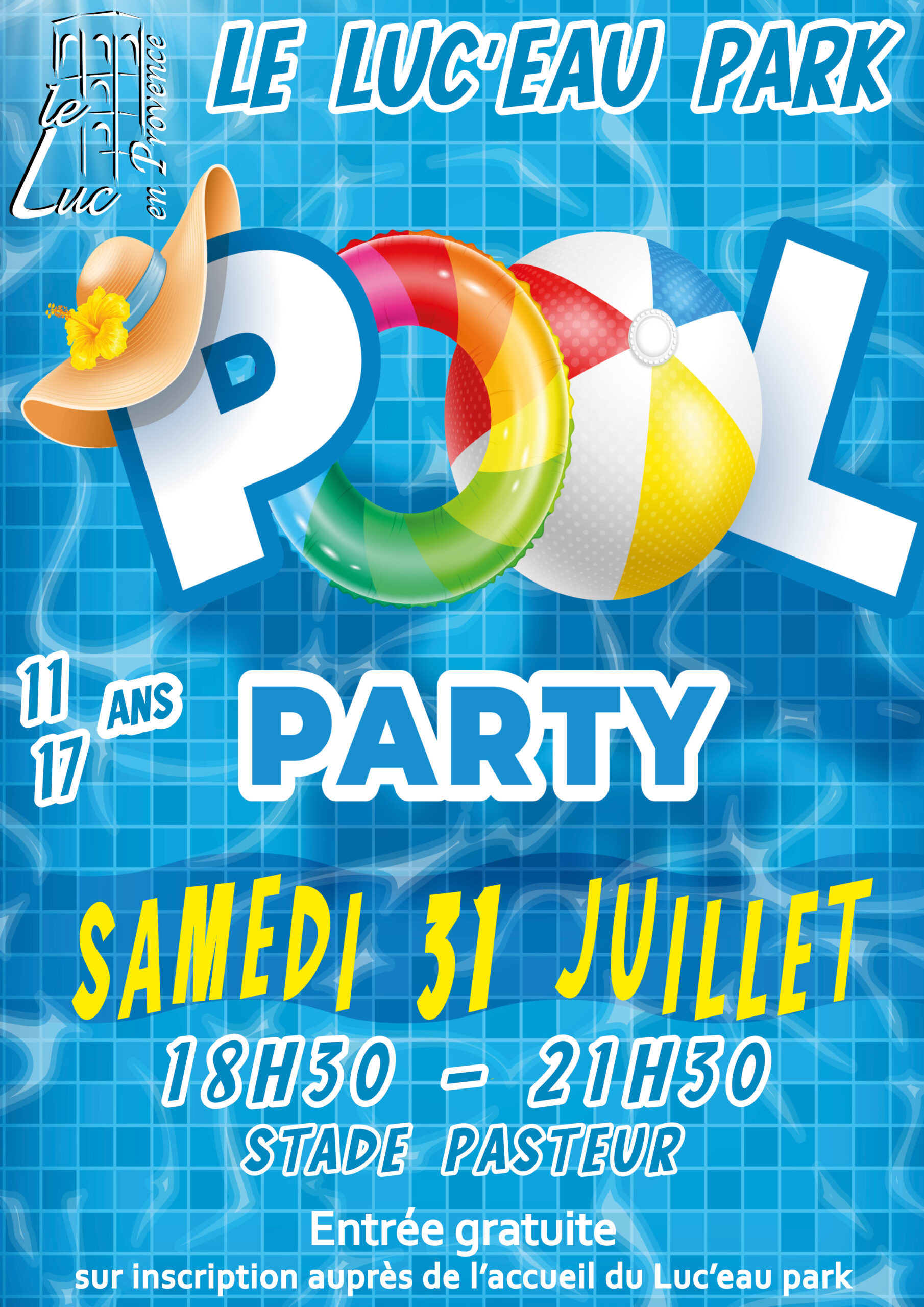 Samedi 31 juillet – Pool party