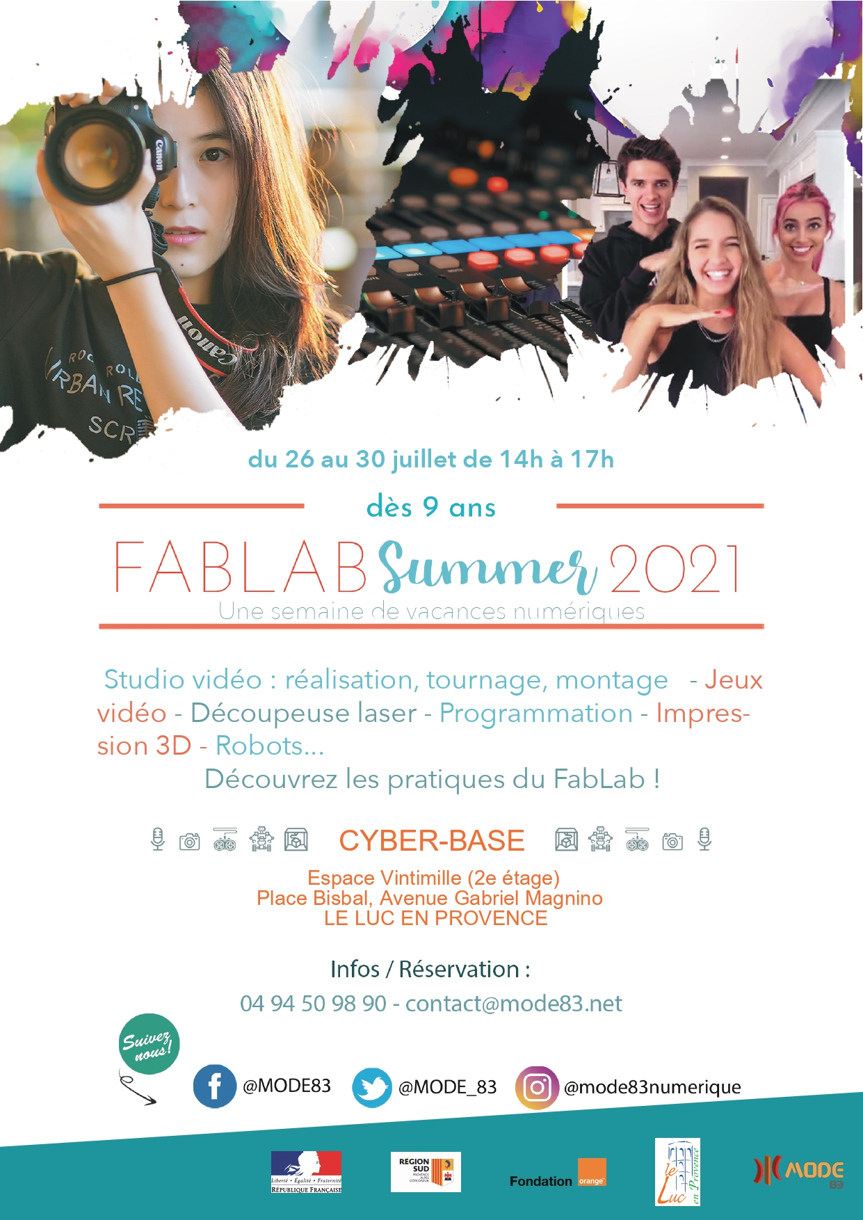 Du 26 au 30 juillet – FABLAB Summer 2021