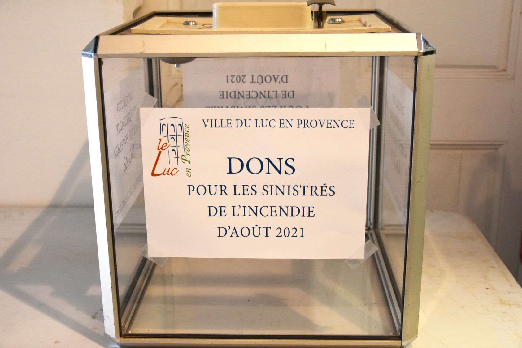 DONS POUR LES SINISTRÉS DES INCENDIES D'AOÛT 2021