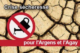 Sécheresse – passage en crise sécheresse dans la zone a, bassin versant de l'Argens et de l'Agay