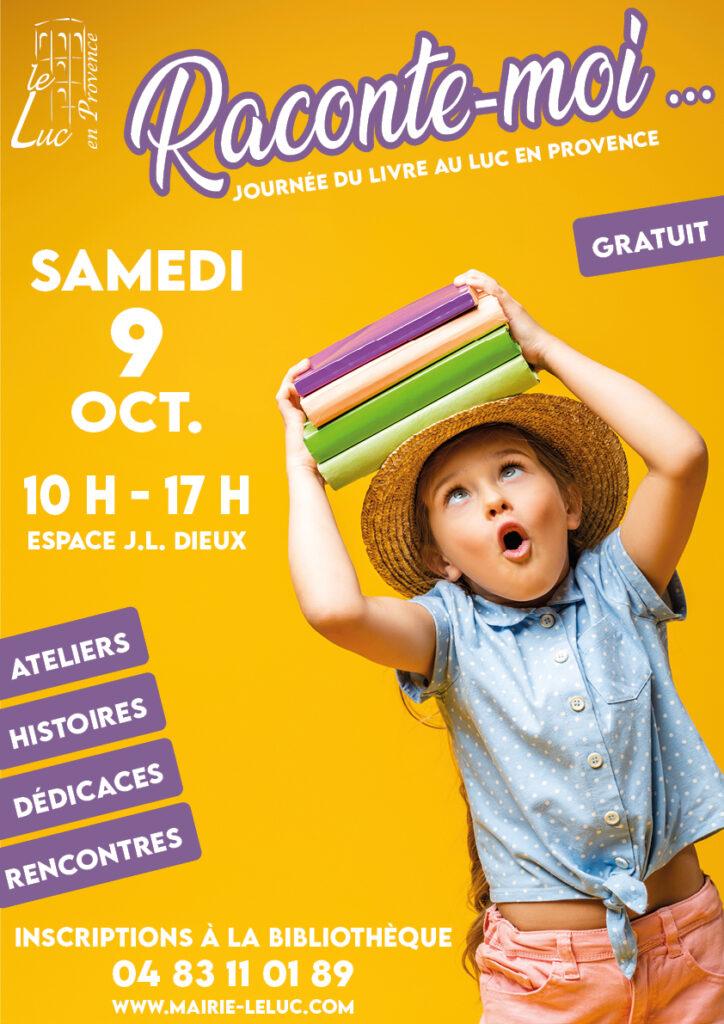 """Samedi 9 octobre – Journée du livre jeunesse """"Raconte-moi…"""""""